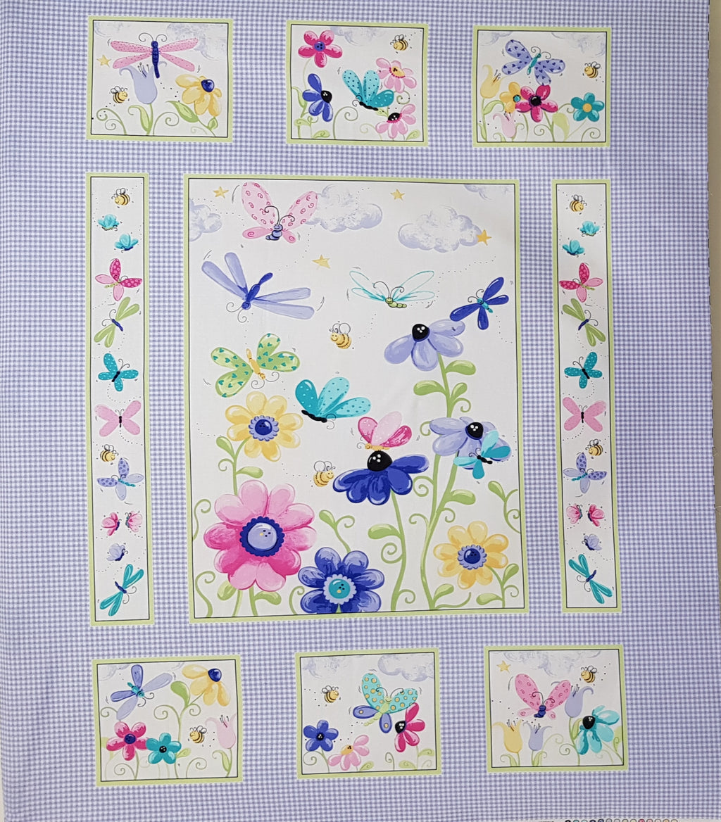 Flutter the Butterfly Panel (108x88cm) - Lori's Fabrics & Quilts