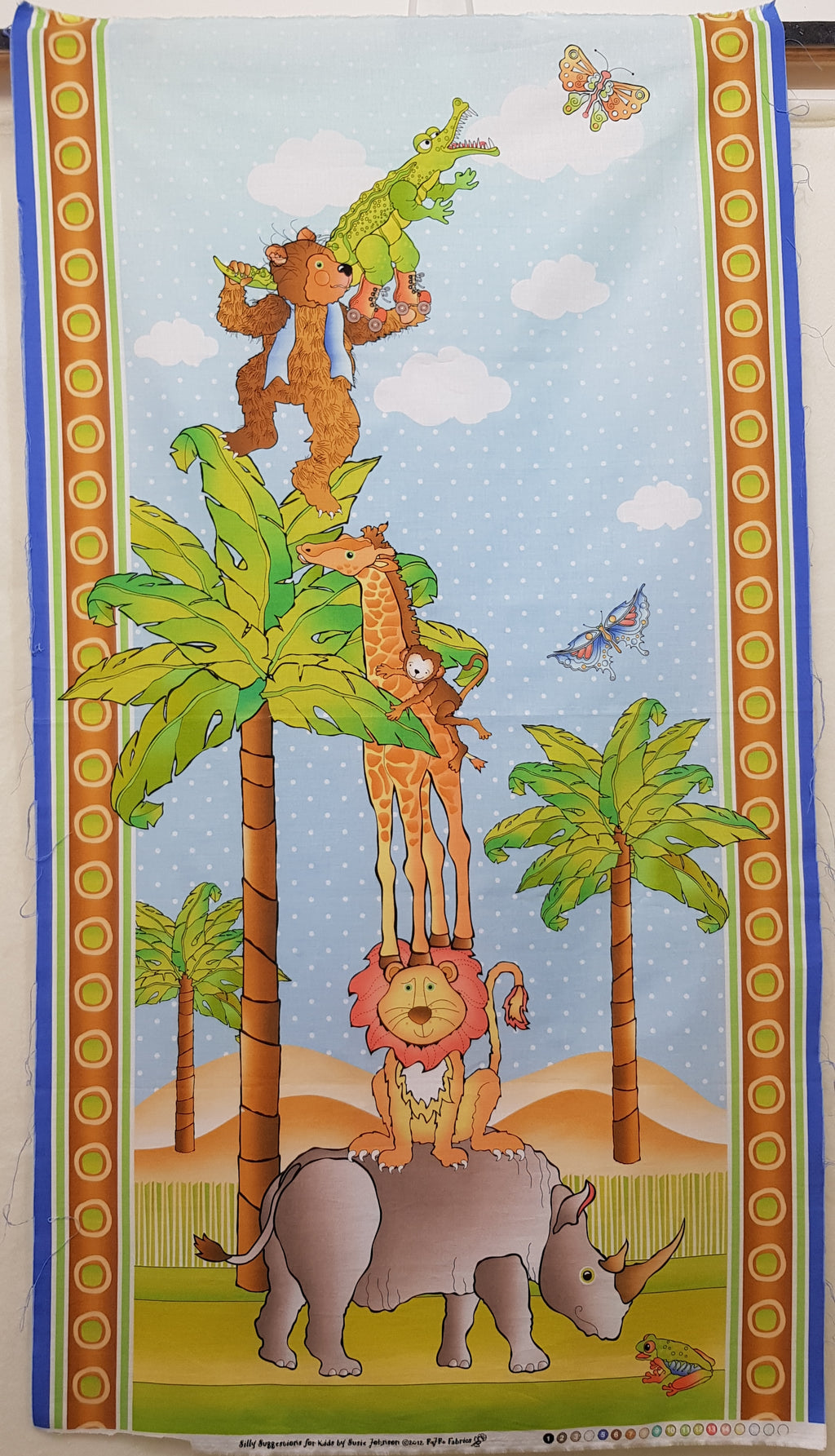 Jungle Animals Cot Panel (108x60cm) - Lori's Fabrics & Quilts