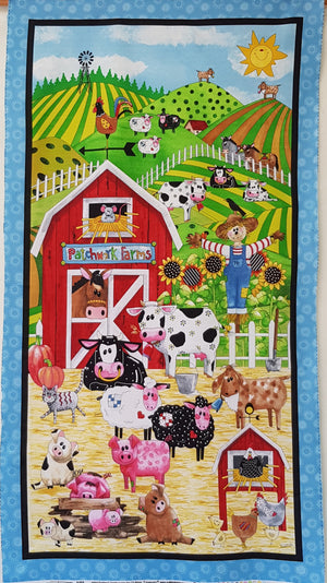 Patchwork Farms Panel (24 inch) - Lori's Fabrics & Quilts