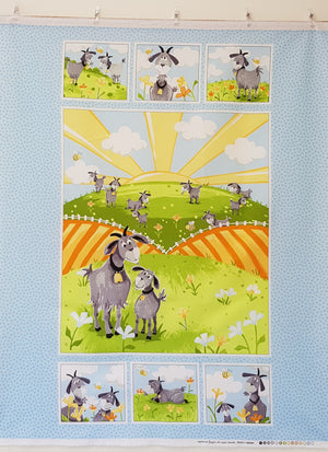 Hildy the Goat Panel (90×108cm) - Lori's Fabrics & Quilts