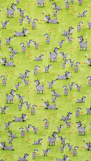 Hildy the Goat Fabric (108×100cm) - Lori's Fabrics & Quilts