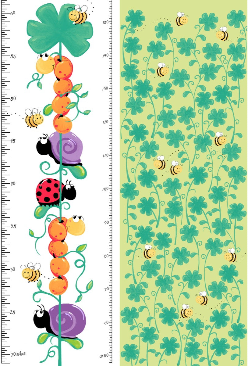 Leif the Caterpillar- growth chart (110×720cm) - Lori's Fabrics & Quilts