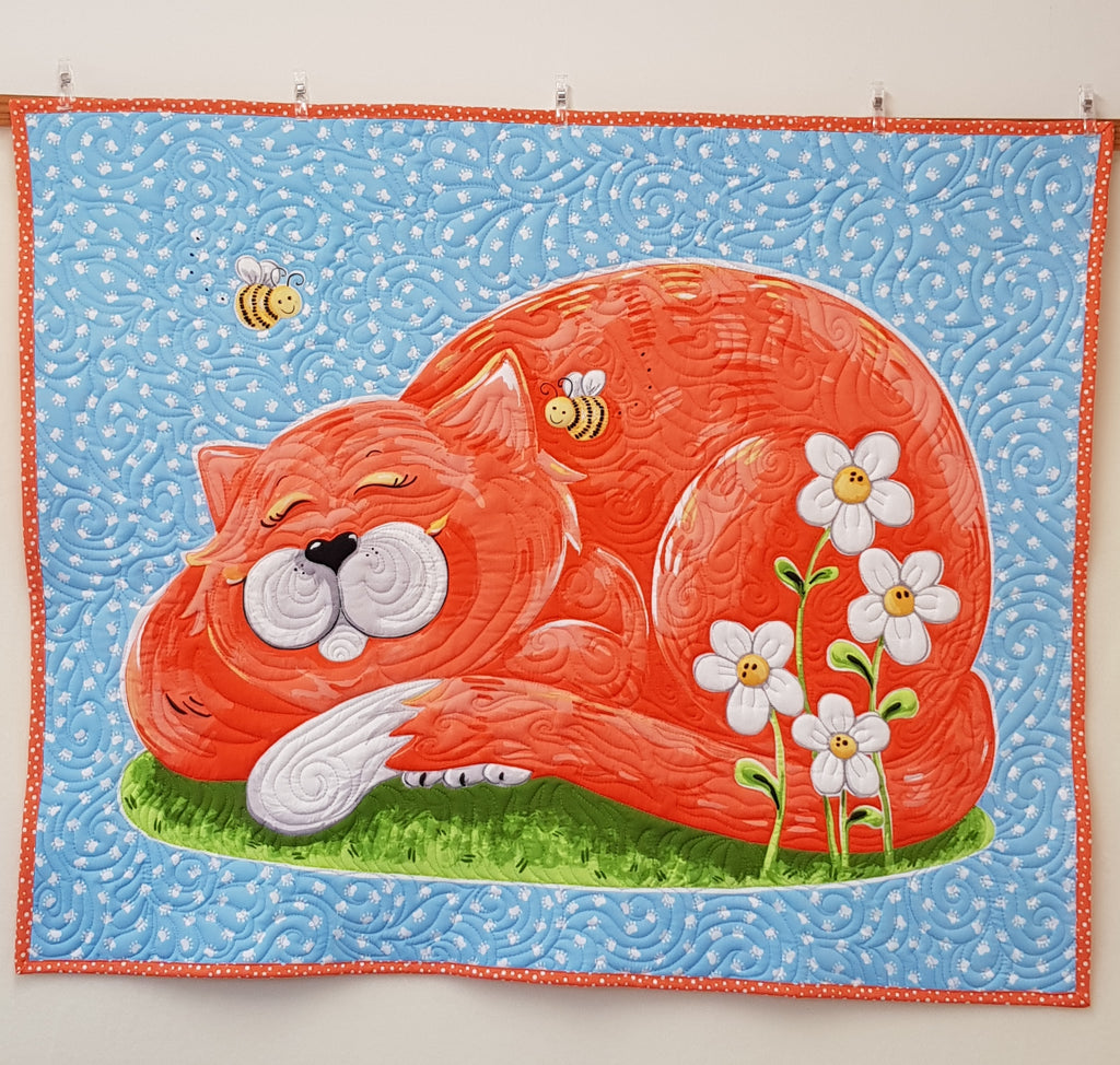 Purrl the Cat playmat/Quilt (104cm x 86cm) - Lori's Fabrics & Quilts