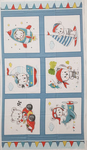 "Teddy's Great Adventures Panel (24"" x 44"") - Lori's Fabrics & Quilts"
