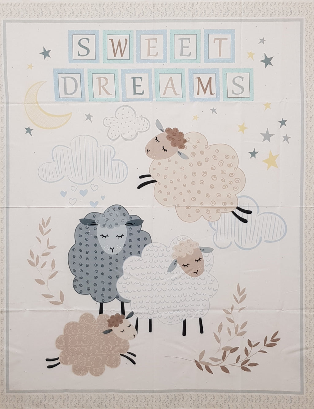 "Sweet Dreams Counting Sheep Panel (36"" x 44"") - Lori's Fabrics & Quilts"