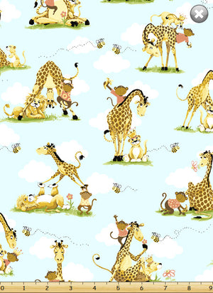 Zoe the Giraffe Backing Fabric (110x100cm) - Lori's Fabrics & Quilts