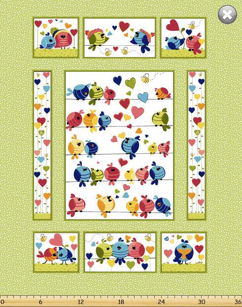 Evie the Bird Panel (90x108cm) - Lori's Fabrics & Quilts