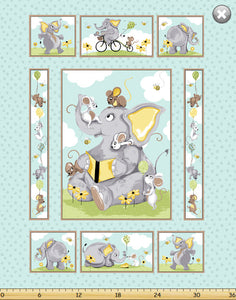 Knightley the Elephant Panel (90x108cm) - Lori's Fabrics & Quilts