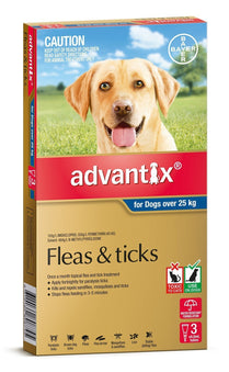Advantix - Flea and Tick Treatment for Dogs 25kg+ (Blue) 6 Pack