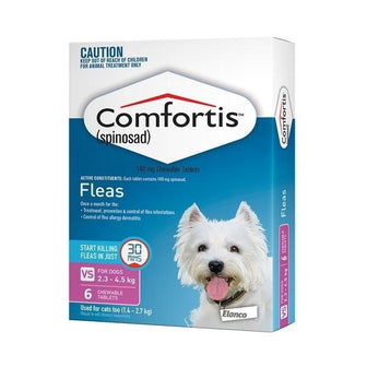 Comfortis Pink - For Dogs 2.3-4.5 kg 6 Pack