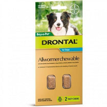 Drontal - Chewable Intestinal Wormer for Large Dogs 2 Pack