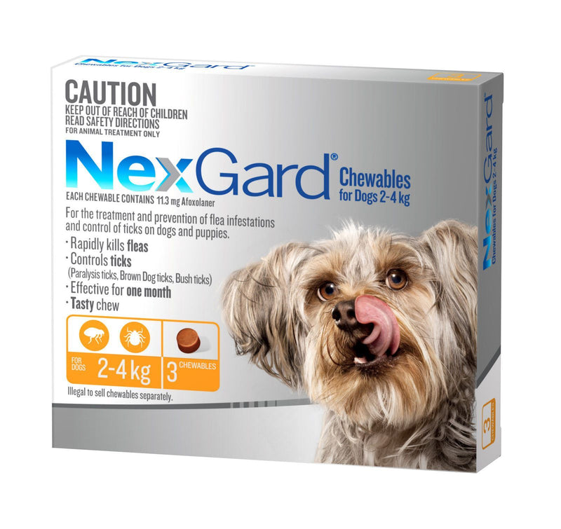 Nexgard Chew for Dog's - 2-4kg (Yellow)