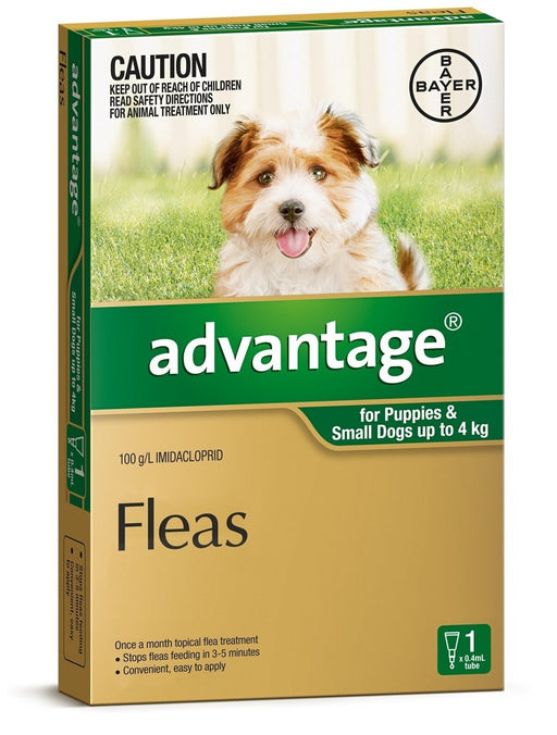 Advantage - Flea Treatment for Dogs <4kg (Green) 1 Pack