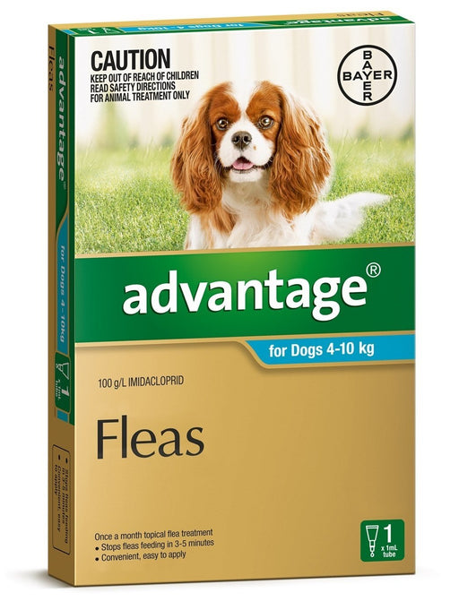 Advantage - Flea Treatment for Dogs 4kg - 10kg (Aqua) 1 Pack