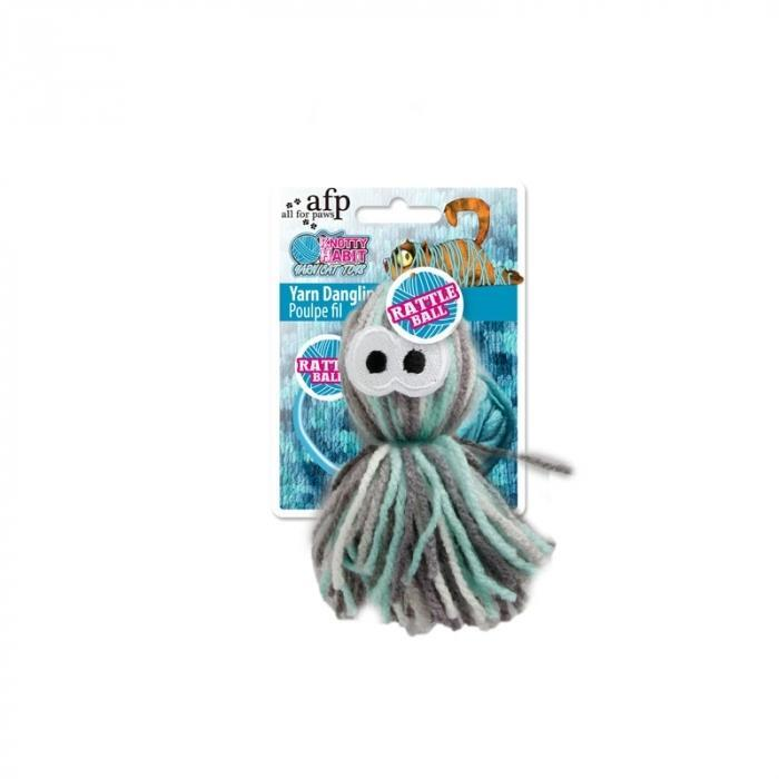 All For Paws (AFP) Knotty Habit Yarn Dangling Octopus