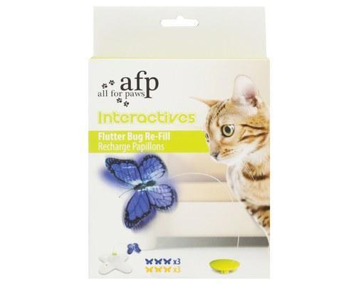 All For Paws Interactive Flutter bug Cat Toy Refill - 6 Pack
