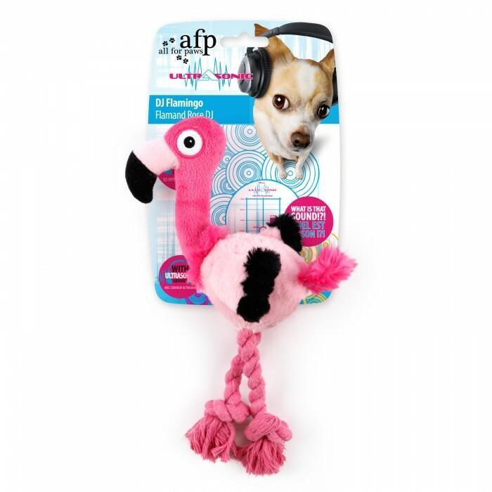 All For Paws Ultrasonic Flamingo Dog Toy