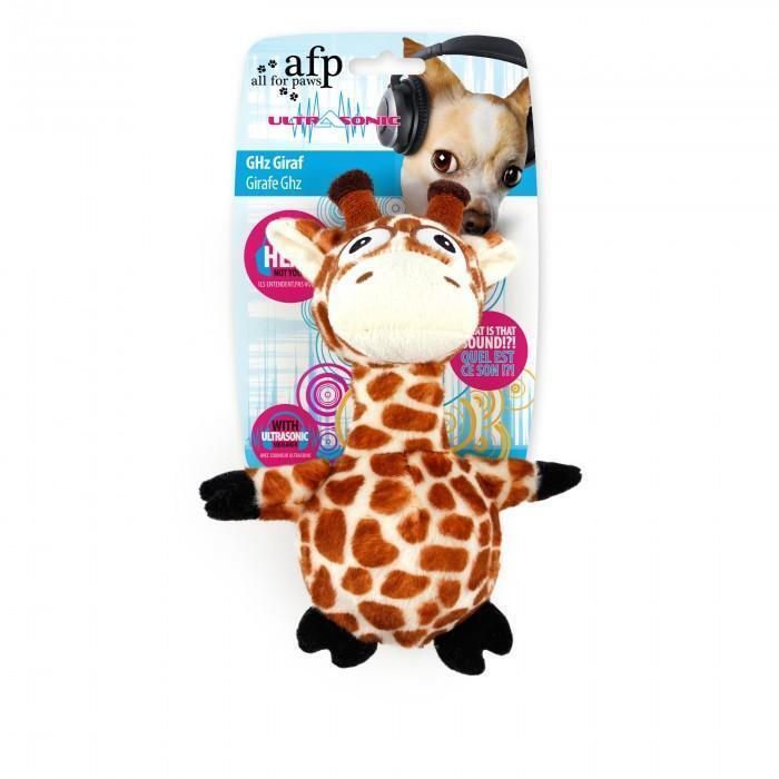 All For Paws Ultrasonic Ghz Giraffe  Dog Toy