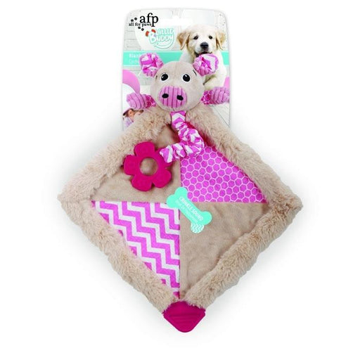 All For Paws Little Buddy Blanky Piggy Dog Toy