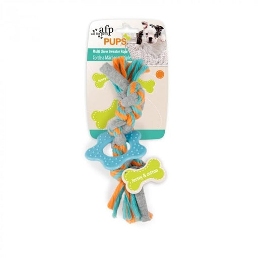 All For Paws (AFP) Pups Multi Chew  Sweater Rope
