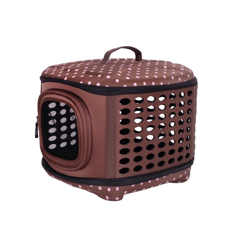 Collapsible Traveling Pet Hand Carrier - Brown
