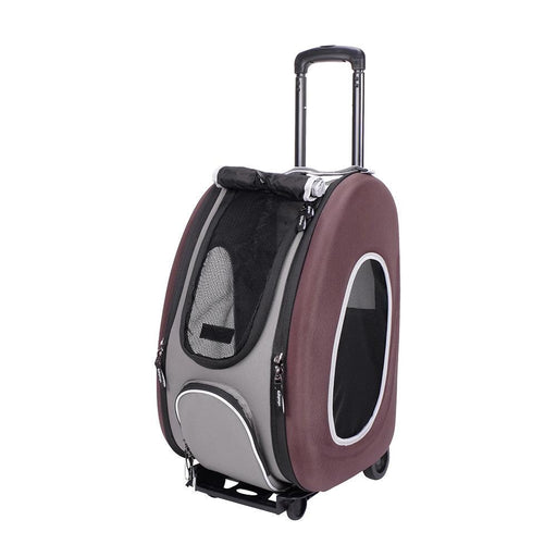 EVA Pet Carrier-Pet Wheeled Carrier - Brown