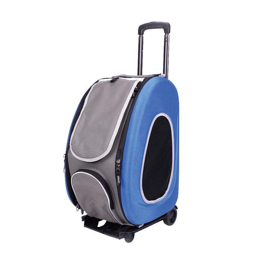 EVA Pet Carrier- Pet Wheeled Carrier - Blue