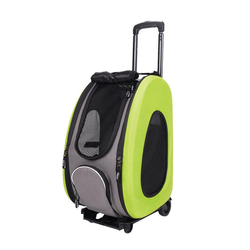EVA Pet Carrier- Pet Wheeled Carrier - Green