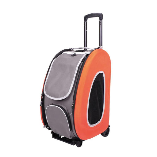 EVA Pet Carrier- Pet Wheeled Carrier - Orange