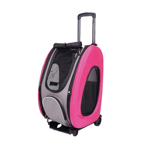 EVA Pet Carrier- Pet Wheeled Carrier - Pink