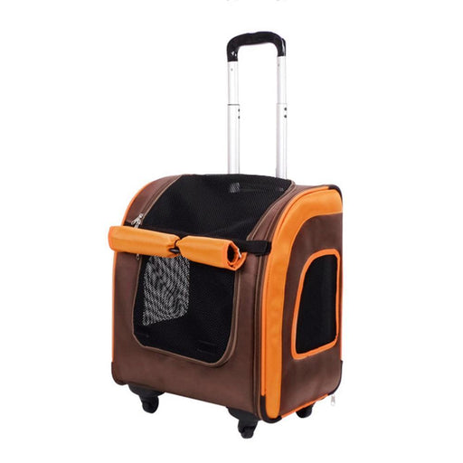 Liso Backpack Parallel Transport Pet Trolley - Orange-Brown