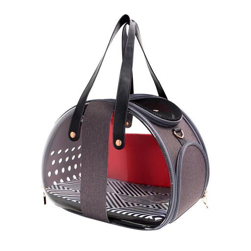 The Bubble Hotel Semi-transparent Pet Carrier - Scarlet Red