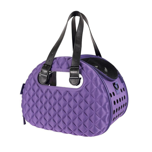 Diamond Deluxe Pet Carrier - Dark Purple