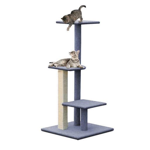 124cm Deluxe Cat Scratching Tree - Grey