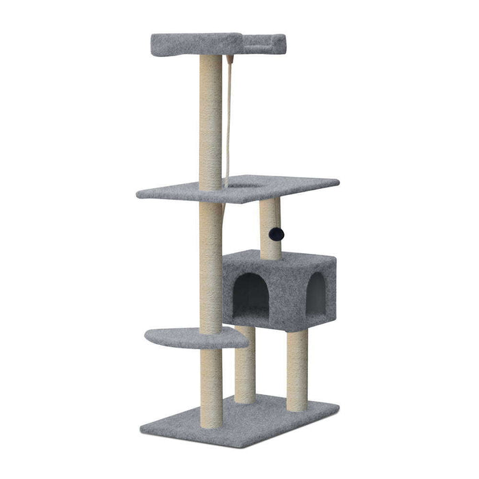 145cm Deluxe Cat Scratching Tree - Grey