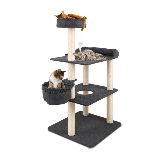 132cm Deluxe Cat Scratching Tree - Grey