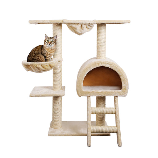 100cm Deluxe Cat Scratching Tree - Beige