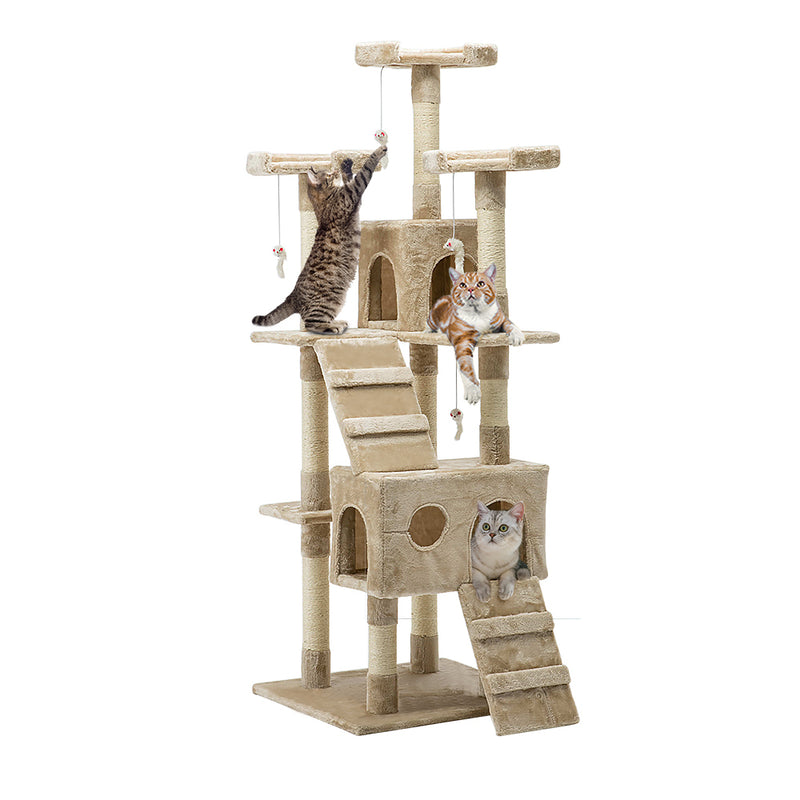 180cm Deluxe Cat Scratching Tree - Beige