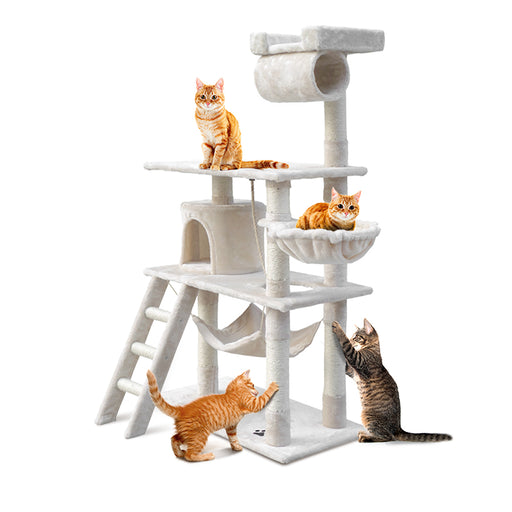 141cm Deluxe Cat Scratching Tree - Beige