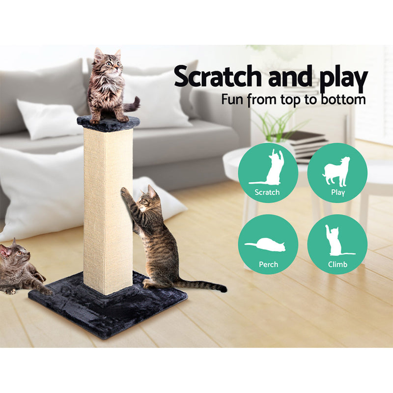 92cm Deluxe Cat Scratching Tree - Beige & Blue