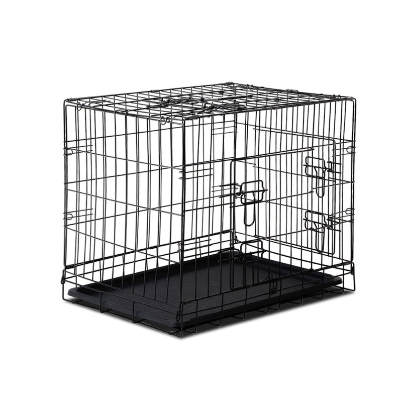 Pet Collapsible Cage-Crate Black - 24in (60.96cm)