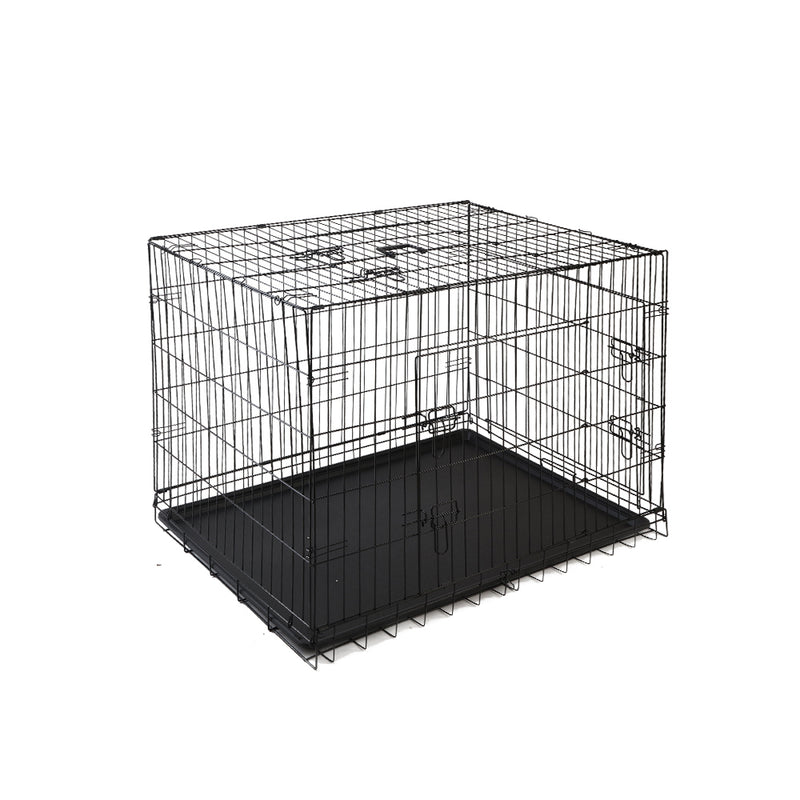 Pet Collapsible Cage-Crate Black - 42in (106.68cm)