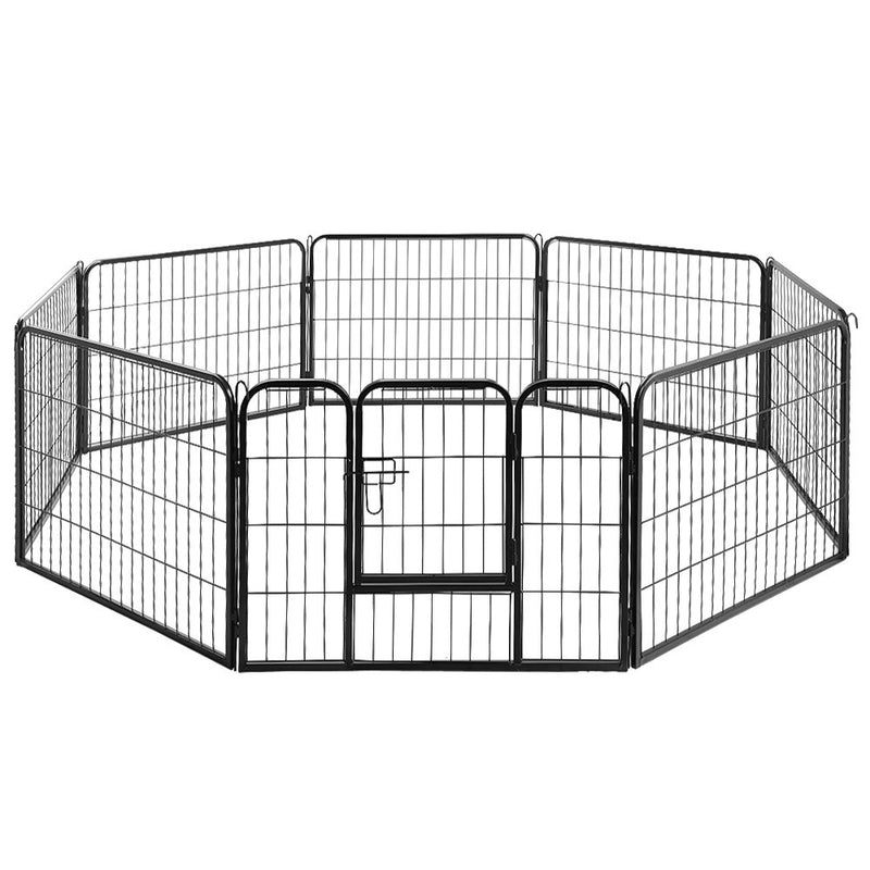 Deluxe Dog-Puppy-Pet Enclosure Play Pen - 8 Panels X 60cm X 80cm