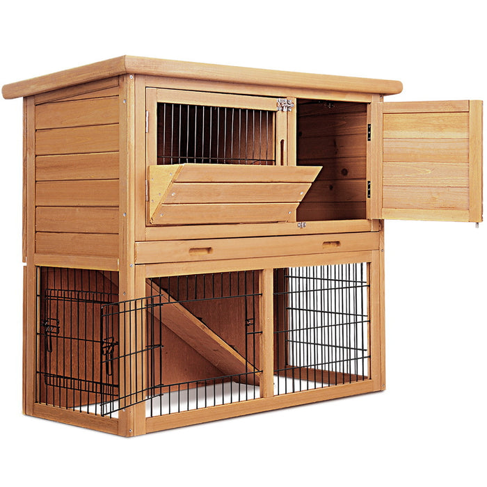 Wooden-Timber Pet Coop-Hutch - 86cm