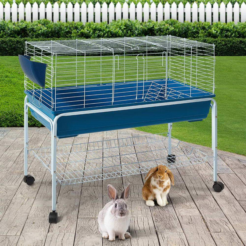Rabbit-Guinea Pig Metal Starter Cage + Stand - 99cm