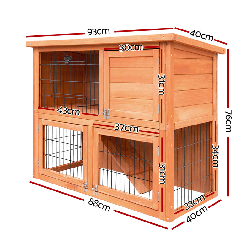 Wooden-Timber Pet Coop-Hutch - 93cm