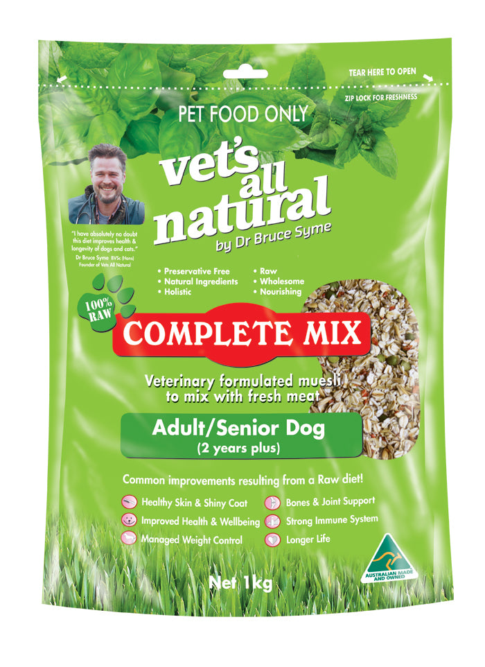Vets All Natural Complete Mix 1 kg Adult-Senior