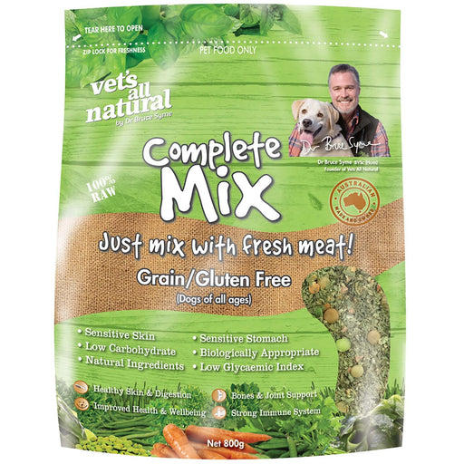 Vets All Natural Complete Mix 800g Grain-Gluten Free
