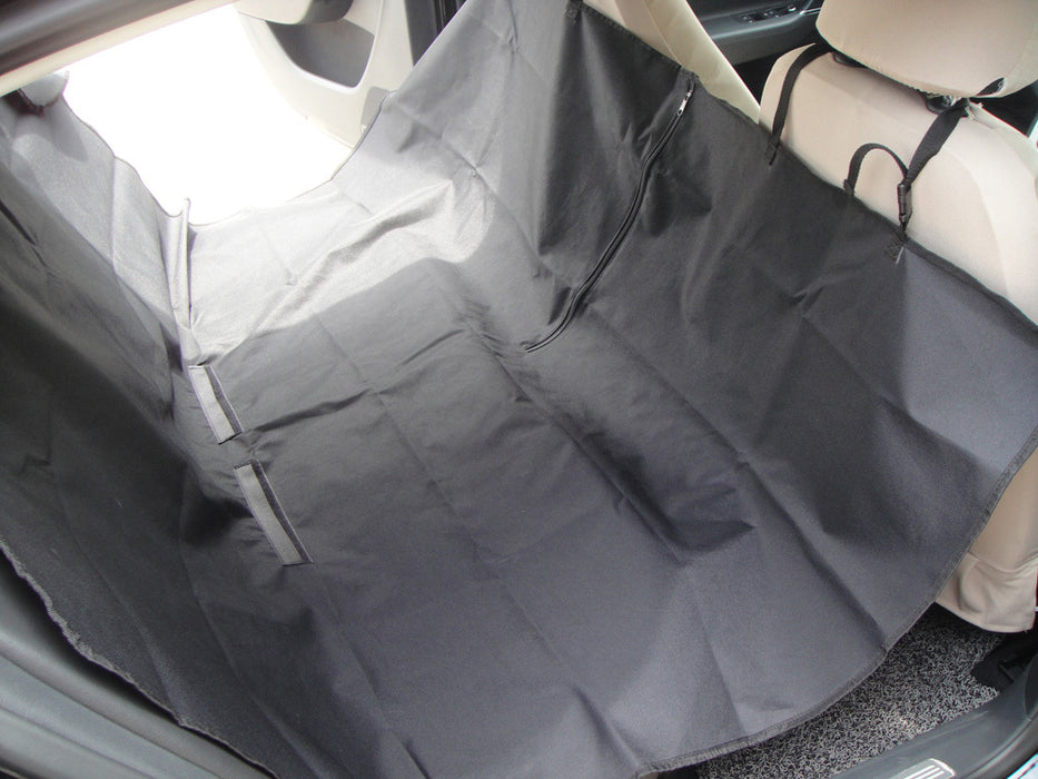 Pet Car Back Seat Hamock - Waterproof Black