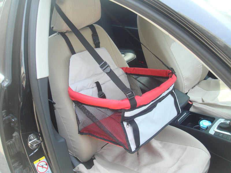Pet Car Booster Seat - Red